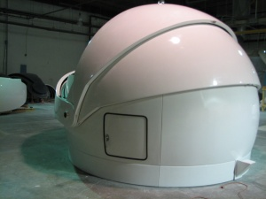 Finished dome is at the factory and just about ready to ship.